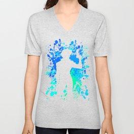 Anime Paint Splater Inspired Shirt Unisex V-Neck