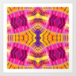 Pinky Aztec Art Print