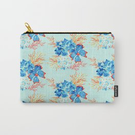 Seaside Floral Print Carry-All Pouch