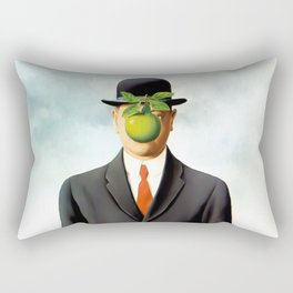 Rene Magritte The Son of Man, 1964 Artwork, Tshirts, Posters, Prints, Bags, Men, Women, Youth Rectangular Pillow