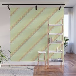 Spring Green Inclined Stripes Wall Mural