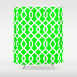 Grille No. 3 -- Lime Shower Curtain