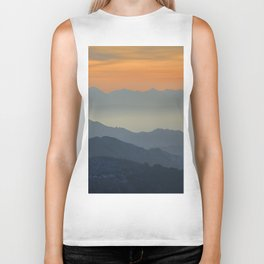 """Sunset at the mountains"". Dreaming... Biker Tank"