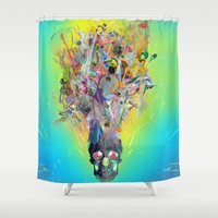 archan nair Shower Curtains featuring Revival by Archan Nair