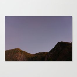 Untouched purple sky Canvas Print