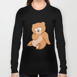 Cute Bear Relaxing Under a Tree Long Sleeve T-shirt