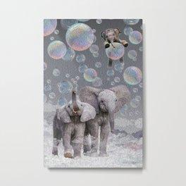 Elephant Blowing Bubbles Metal Print