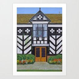 Gawsworth Hall, Cheshire Art Print
