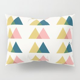 Color Theory in Gold and Pink Pillow Sham