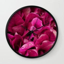 Pink Foliage Photo Wall Clock