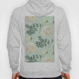 Rose Pattern Cream + Mint Green Hoody