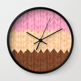 Knitted Napoleon Ice Cream Wall Clock