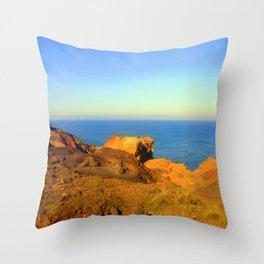 Barren land meets the Ocean Throw Pillow