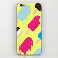 popsicle iPhone & iPod Skins featuring Popsicle by Sher Mavro ART