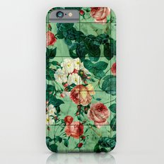 Floral and Marble Texture Slim Case iPhone 6