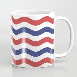 Nautical Waves Red and Blue Waves Coffee Mug