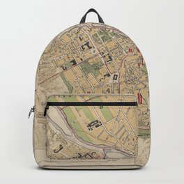 Vintage Map of Tbilisi Georgia (1878) Backpack
