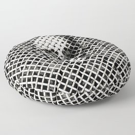 Wicker Skull Floor Pillow
