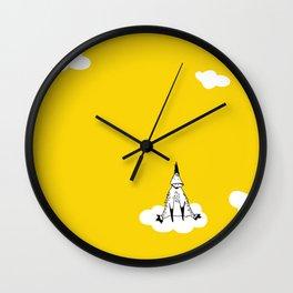 Flying Duck by McKenna Sanderson Wall Clock