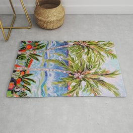 Palm Trees by Karen Fields Rug