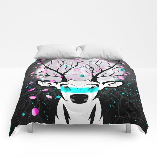 Roots To Grow and Wings To Fly (Sakura Deer) Comforters