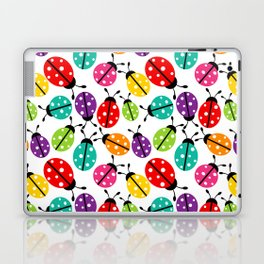 Lots of Crayon Colored Ladybugs Laptop & iPad Skin