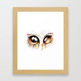 Bown owl eye Framed Art Print
