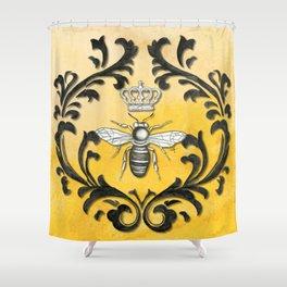 Damask Bee Shower Curtain