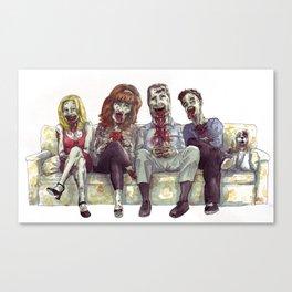 Dead whit children Canvas Print