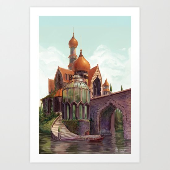 The Beast's Castle Art Print