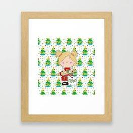 Cooking Christmas Cookies Framed Art Print