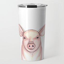 Pig Drawing, Pig Art, Farm Decor Travel Mug