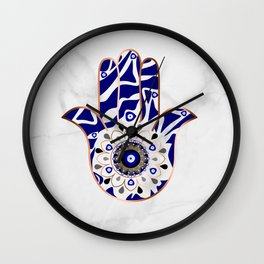 Talk to the Evil Eye Hamsa Hand Wall Clock
