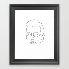 One line Joe Strummer Framed Art Print