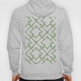 Bamboo Chinoiserie Lattice in White + Green Hoody