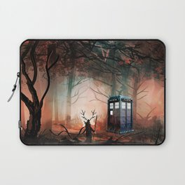 TARDIS IN THE FOREST Laptop Sleeve
