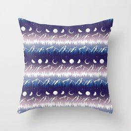 Mountains & Moons Stripe Throw Pillow