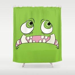Little Green Monster Shower Curtain