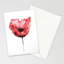 Poppy blooming 2 Stationery Cards