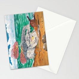 Crocodile emphisema Stationery Cards
