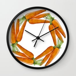 Carrot motivator Wall Clock