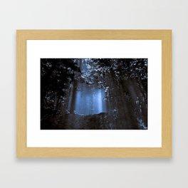 Blue Floating Sun Framed Art Print