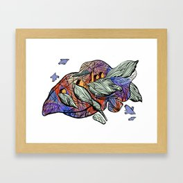 explore (purple) Framed Art Print