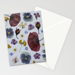 pressed wild flowers Stationery Cards