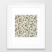 novelty Framed Art Prints featuring Yummy Sushi! by Eine Kleine Design Studio