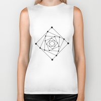 sacred geometry Biker Tanks featuring Sacred Geometry II by melonweed