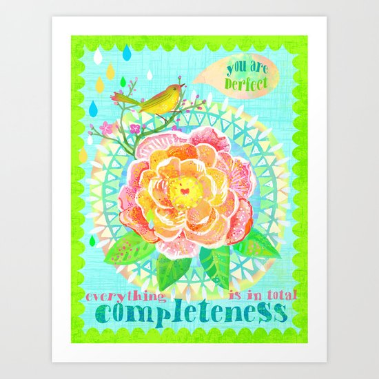 You are Perfect Art Print