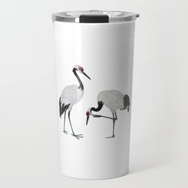 Red-crowned Cranes Travel Mug