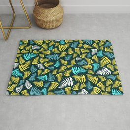 Fern Fronds in Sunny Mountain Tones Rug