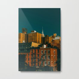 New York City Apartments (Color) Metal Print